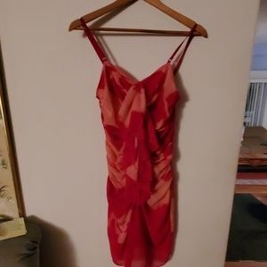 Arden B Pink/Red Sleeveless Dress - S